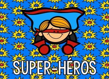 Ensemble d'affichage - Les super-héros