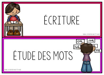 Ensemble d'affichage pour les ateliers de français Néon