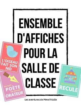 Ensemble d'affiches pour la salle de classe