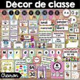 Ensemble d'étiquettes pour la classe - Chevron - French Classroom Decor Bundle