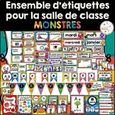 Ensemble d'étiquettes pour la classe - Monstres - French C
