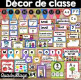Ensemble d'étiquettes pour la classe -Quadrillage -French Classroom Decor Bundle