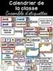 Ensemble d'étiquettes pour la classe -Quadrillage -French