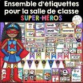 Ensemble d'étiquettes pour la classe- Super-héros -French