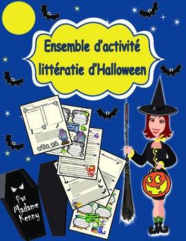 Halloween:Ensemble d'activite de litteratie d'Halloween