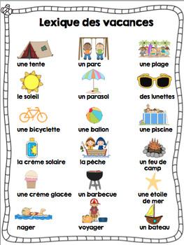 Ensemble d'activités Fin d'année/ End of the year french activity bundle
