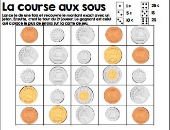 Ensemble d'activités sur la monnaie canadienne/ French Canadian money activities