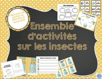 Ensemble d'activités sur les insectes/ French insects activity bundle