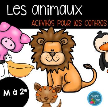 Ensemble d'activités sur les animaux/ French animals activ