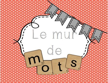 Ensemble d'affiches Mur de mots/ French words wall posters