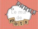Ensemble d'affiches Mur de mots/ French words wall posters