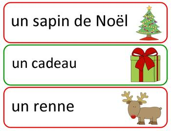 Ensemble de Noel / Christmas Word Wall and Games in French