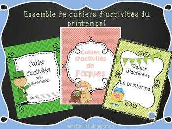 Ensemble de cahiers d'activités du printemps/ French spring activity book BUNDLE