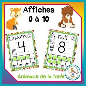 Décoration de classe - animaux de la forêt / classroom decor - woodland animals