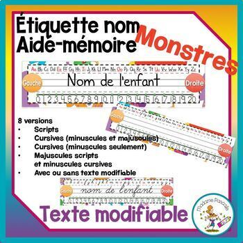 Décoration de classe - monstres / classroom decor - monster