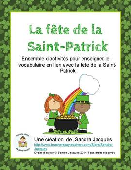 Ensemble de la Saint-Patrick / St. Patrick's Day Word Wall and Games in French