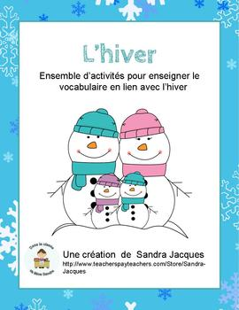 Ensemble de l'hiver Winter Word Wall and Games in French
