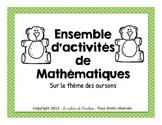 Ensemble de mathématiques sur le thème des oursons(à impri