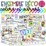 GROWING BUNDLE -- Ensemble déco coloré et vibrant // FRENCH CLASSROOM DECOR