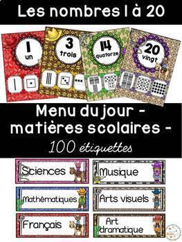 Ensemble étiquettes pour la classe- Cowboys -French Classroom Decor Bundle