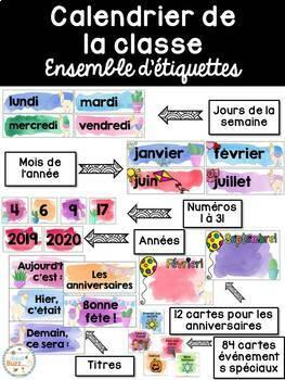 Ensemble étiquettes pour la classe - Lamas et cactus - French Classroom Decor