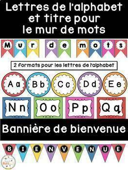 Ensemble étiquettes pour la classe- à pois -French Classroom Decor Bundle