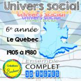 Ensemble grandissant - Univers social - Québec 1905-1980