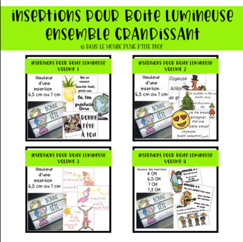 Ensemble grandissant boîte lumineuse / Growing bundle French lightbox insert