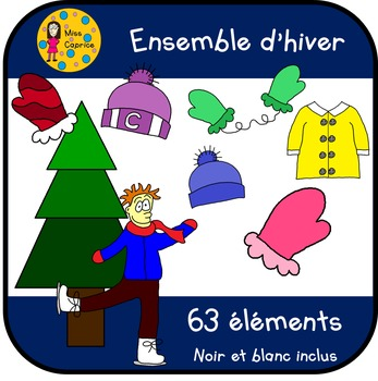 Ensemble hiver - Clip arts