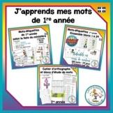 Ensemble j'apprends mes mots - 1re année / French learning