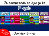 Ensemble janvier à mai - Je comprends ce que je lis - 1er cycle