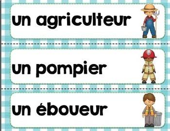 Ensemble sur les métiers de la communauté/ French community helper bundle