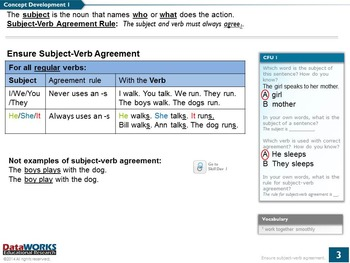 Ensure Subject-Verb Agreement