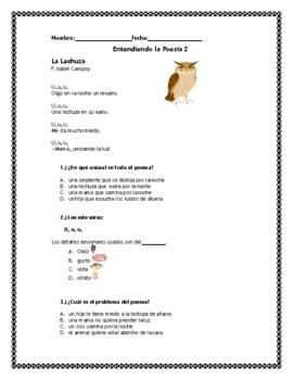 Entendiendo la Poesia 2- Understanding Spanish Poetry 2