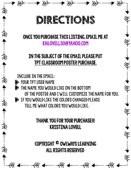 Enter This Classroom Poster