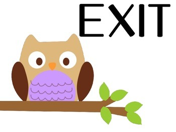 Enter and Exit Owl Theme Classroom Sign 1