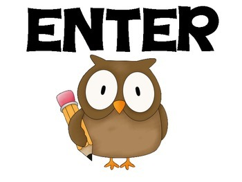 Enter and Exit Owl Theme Classroom Sign