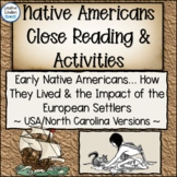 Native American History Close Reading and Response - Enter the Europeans