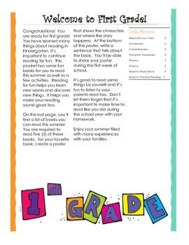 Entering 1st Grade Summer Reading