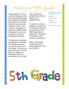 Entering 5th Grade Summer Reading