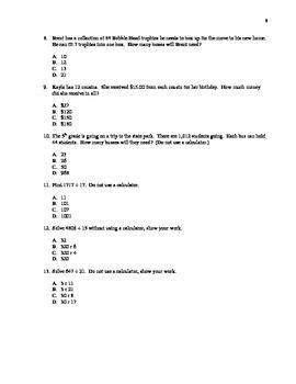 Entering 6th Grade Summer Math Packet