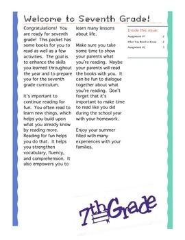 Entering 7th Grade Summer Reading