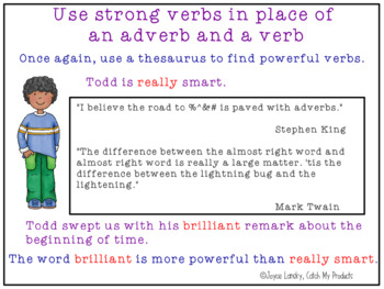 Entering A Story Writing Prompt to Encourage Strong Verbs for Promethean Board