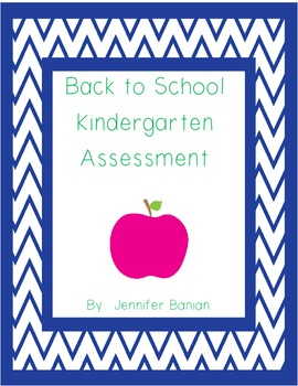 Entering Kindergarten Assessment