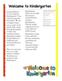 Entering Kindergarten Reading Tips