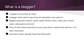 Entering the Blogosphere: An Introduction to Blogs for Students