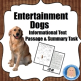 FREE Dogs in Entertainment: Informational Text & Graphic O