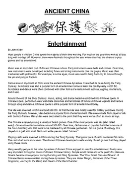 Entertainment in ancient China Article