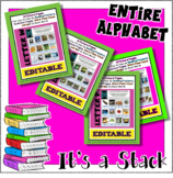 Entire Alphabet Bundle - Editable Giant Flash Card / Poste
