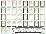 Entire Bible Verse of the Week Curriculum-34 Weeks of Bibl